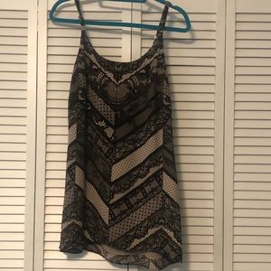 Black and nude lace Cabi tank